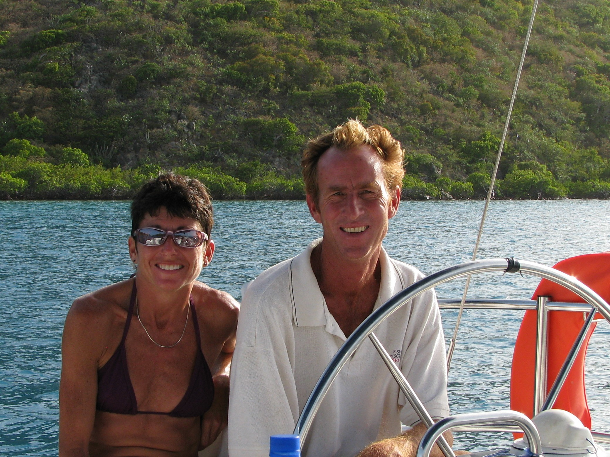 Nan in the BVIs with Rob Swain Sailing School
