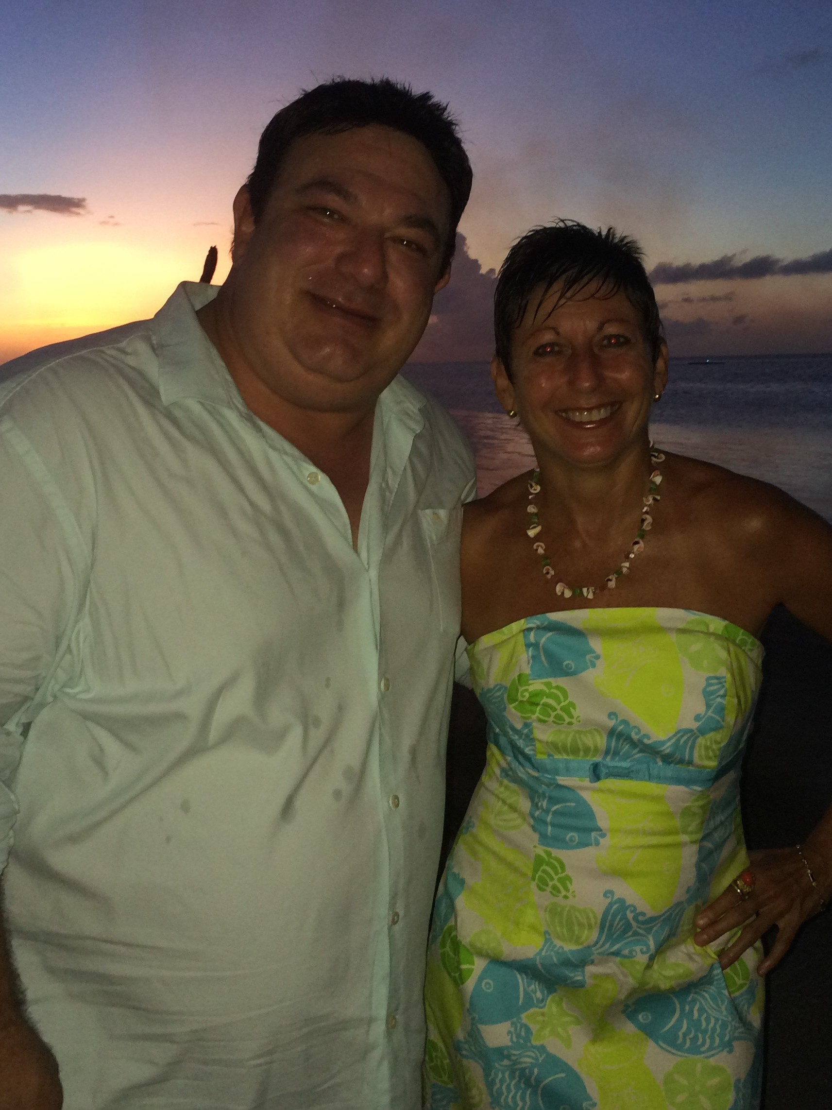 Nan Martin and David Neagle in Belize