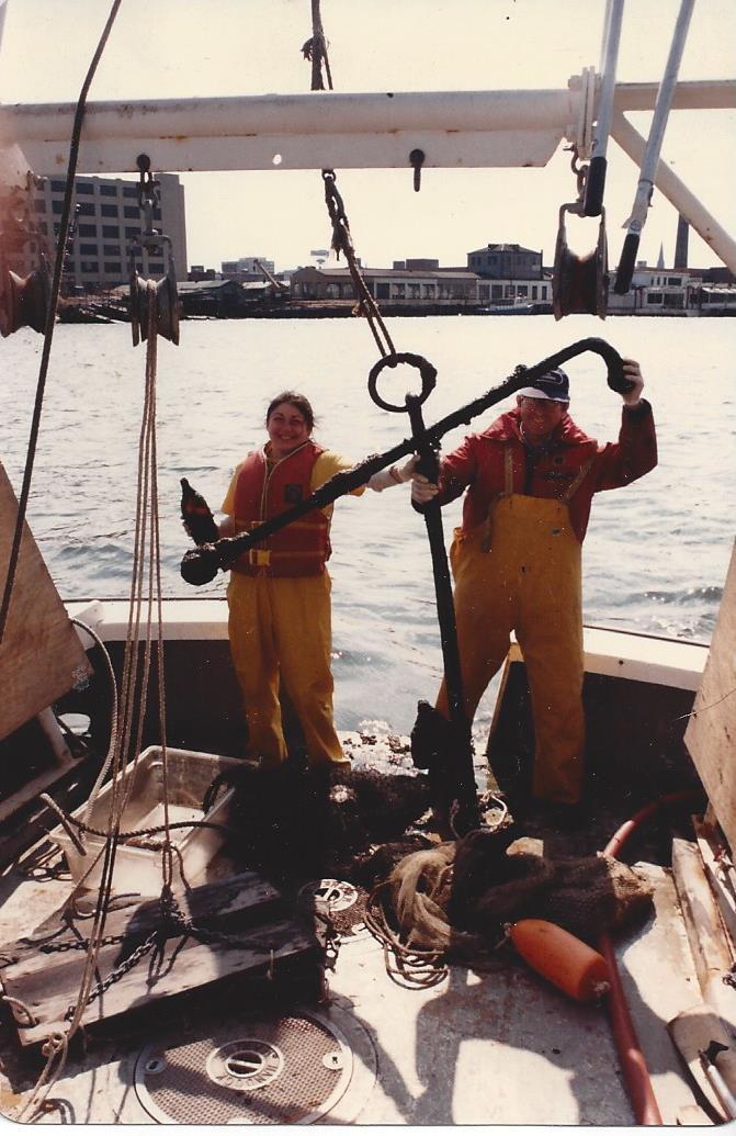 Nan on Trawler Hudson River Fisheries Study