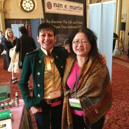 Nan Martin and friend at Live Event Mastery